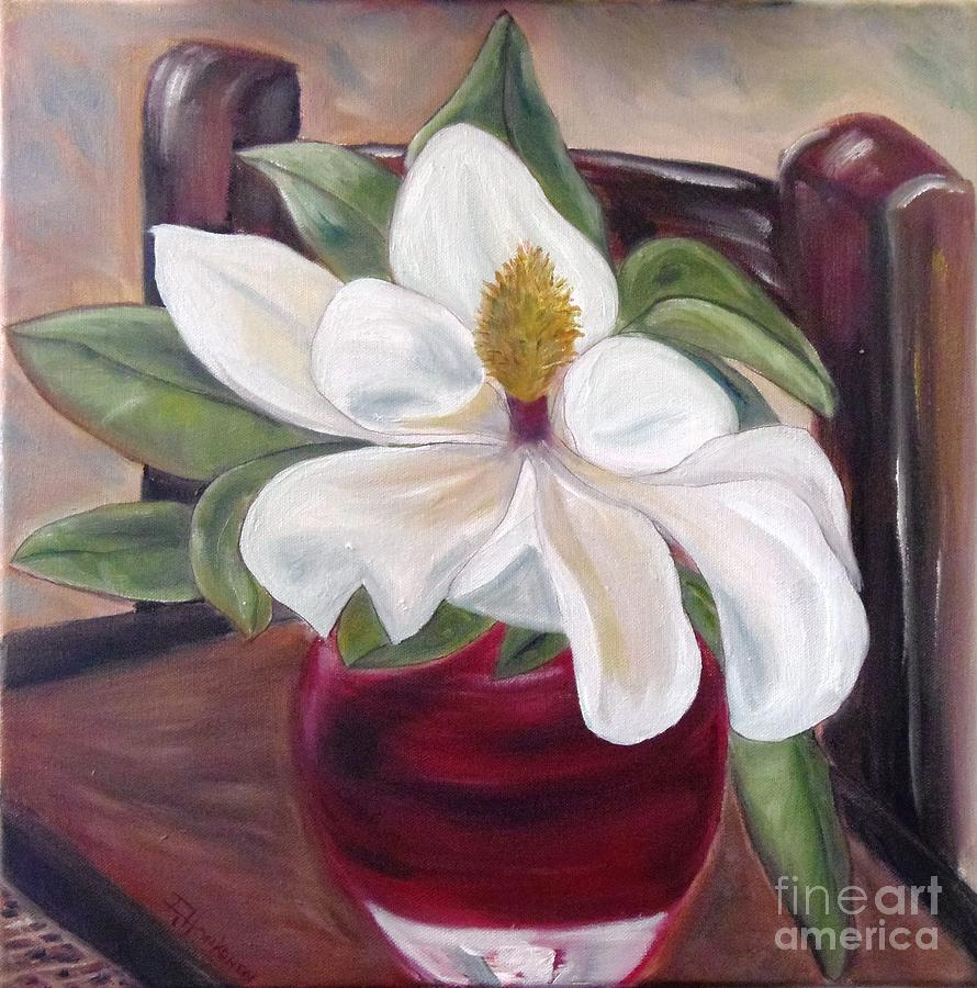 Magnolia Painting - Southern Beauty by Isabel Honkonen