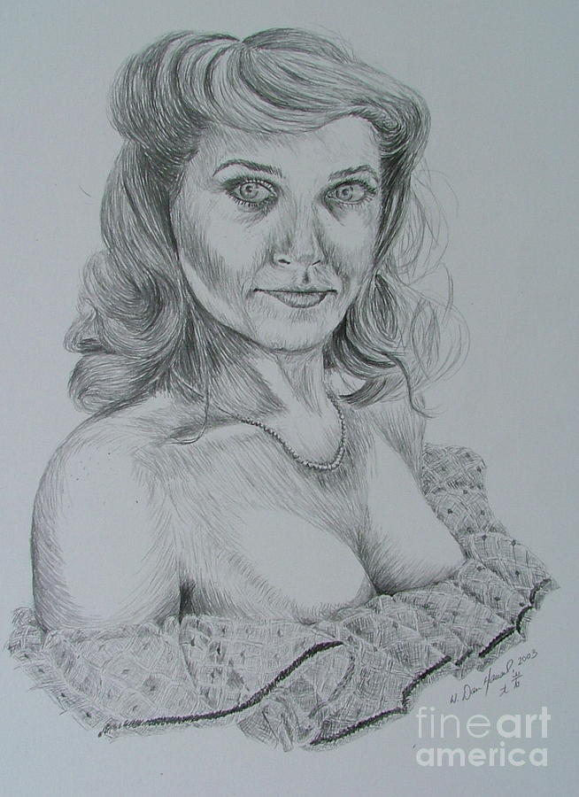 Woman Drawing - Southern Bell by Dan Hausel