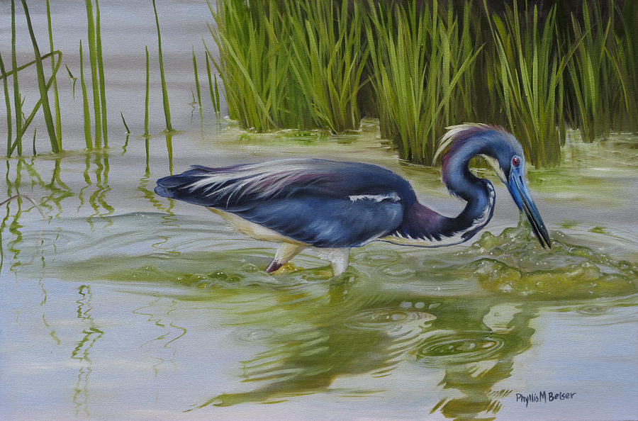 Bird Painting - Southern Blues by Phyllis Beiser