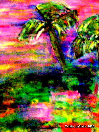 Palm Trees Painting - Southern Discomfort by Cynda LuClaire
