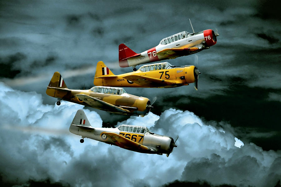 Planes Photograph - Southern Knights by Steven Agius