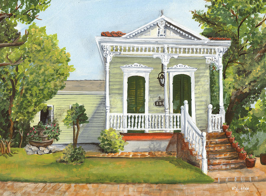 House Painting - Southern Louisiana Charm by Elaine Hodges