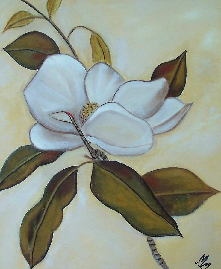 Flowers Painting - Southern Magnolia by Martha Mullins