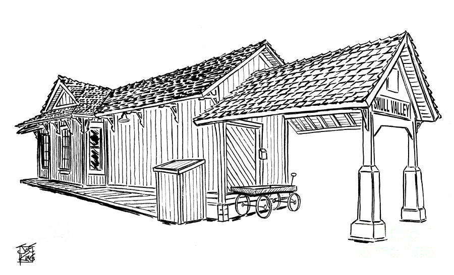 Southern Digital Art - Southern Pacific Depot, Skull Valley, Az by Joe King