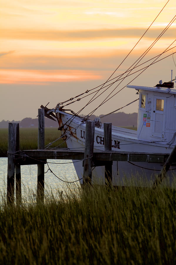 Shrimp Photograph - Southern Shrimp Boat Sunset by Dustin K Ryan