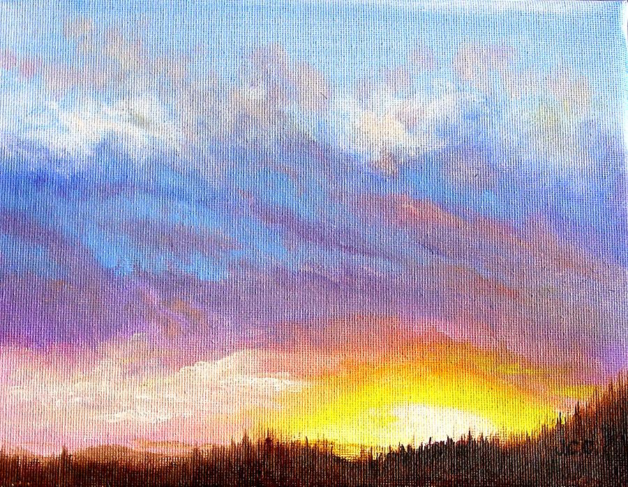 Landscape Painting - Southern Sunset by JoAnne Castelli-Castor