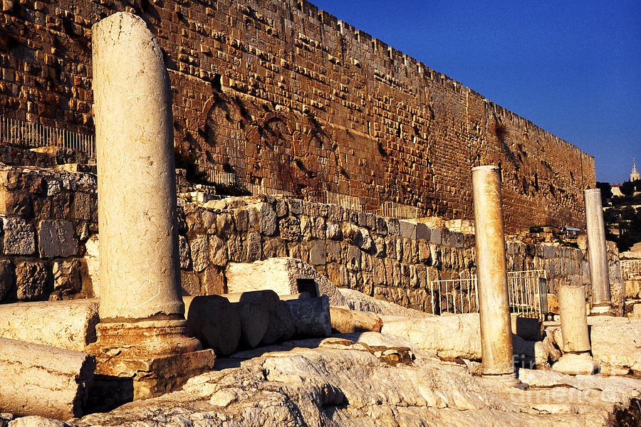 Israel Photograph - Southern Temple Mount Jerusalem by Thomas R Fletcher