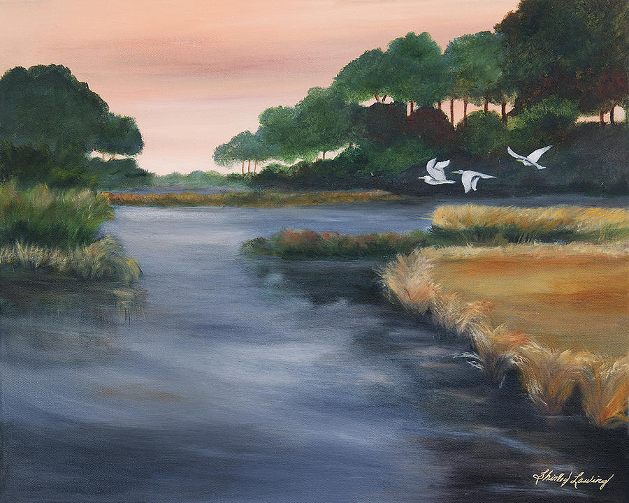 Flowing Water Painting - Southern Winds by Shirley Lawing