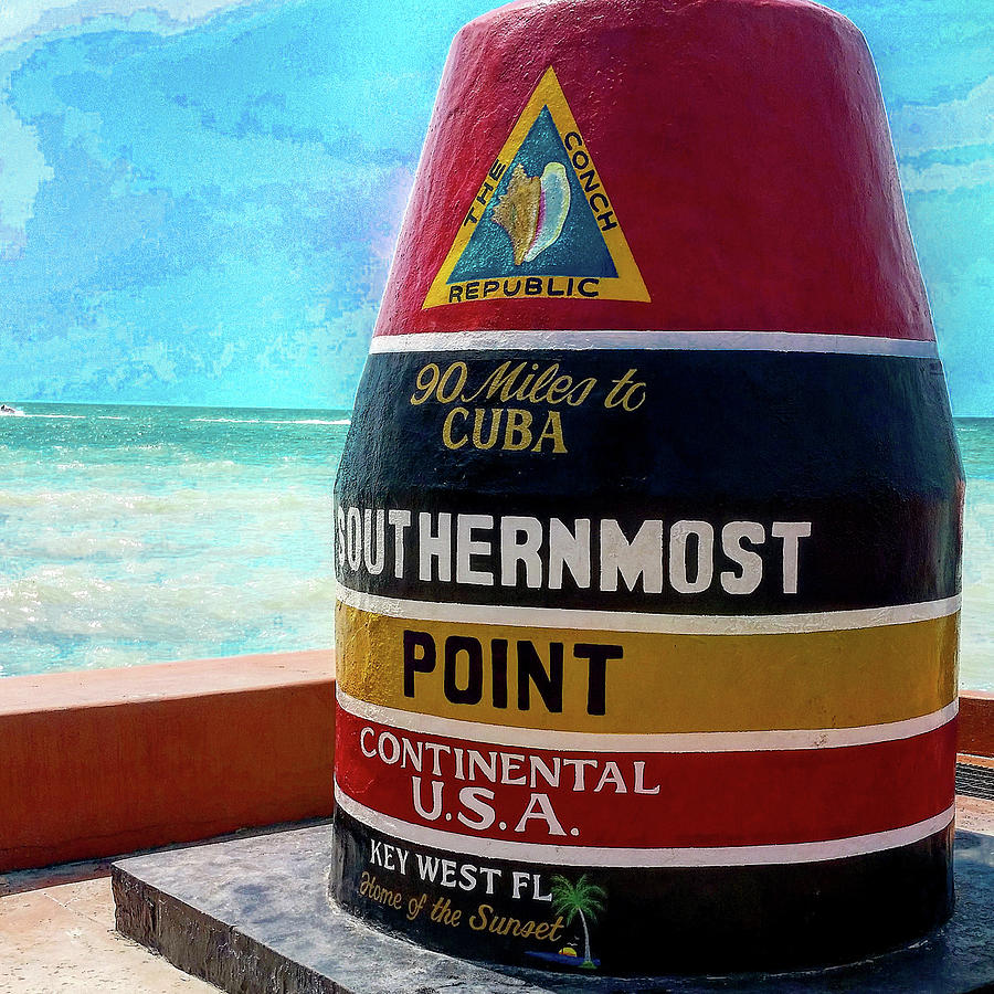 Key West Photograph - Southernmost Point by Mike Roff