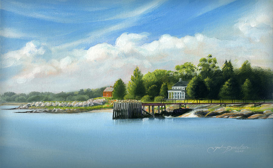Southport Harbor by John Deecken