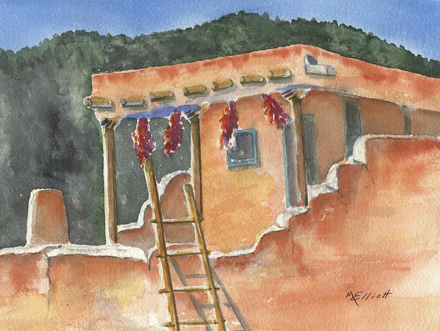 Adobe Painting - Southwest Adobe by Marsha Elliott