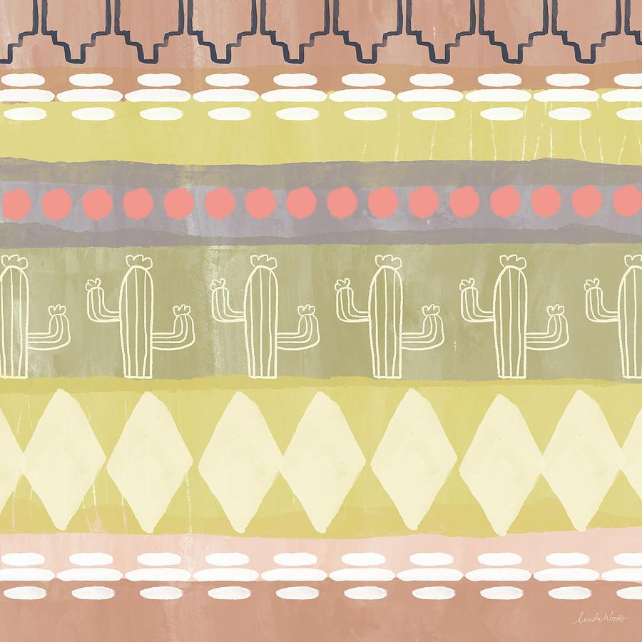 Southwest Cactus Decorative- Art By Linda Woods Mixed Media by Linda ...