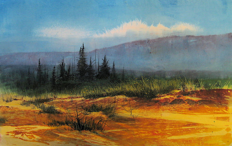 Landscape Mixed Media - Southwest Landscape by Robert Carver