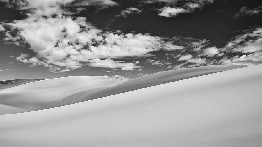 Great Sand Dunes National Park Photograph - Southwest Sands of Colorado in Black and White by Kevin Schwalbe