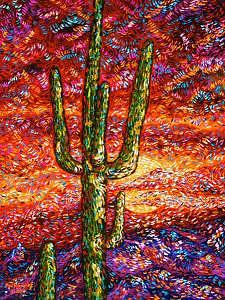 Southwest Painting - Southwest Sunset by Max R Scharf