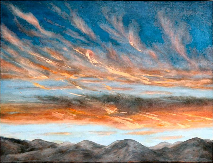 Sunset Painting - Southwest Sunset by Merle Blair