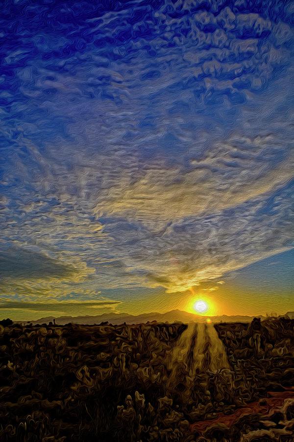 Southwest Sunset Op40 Digital Art