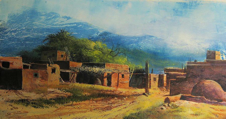 Landscape Painting - Southwest Village by Robert Carver