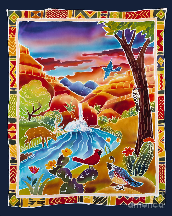 Southwest Painting - Southwest Waterfall by Harriet Peck Taylor