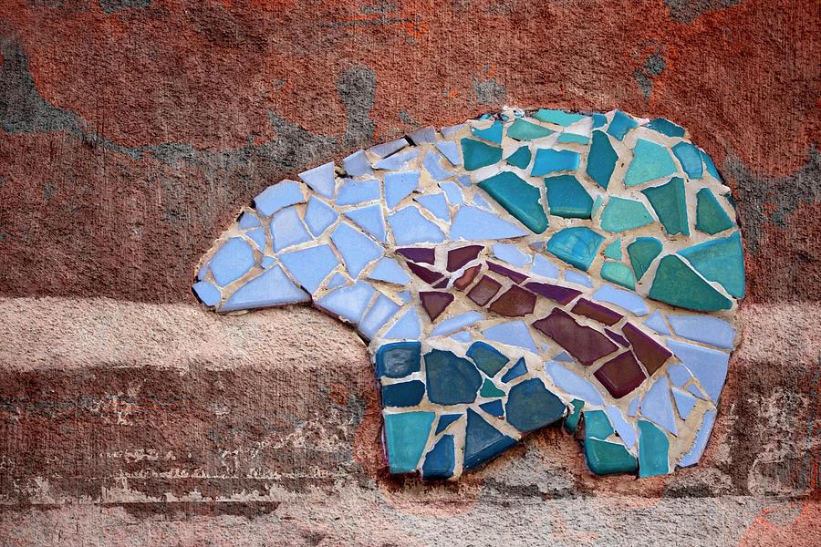 Southwest Photograph - Southwestern Bear Mosaic by Carol Leigh