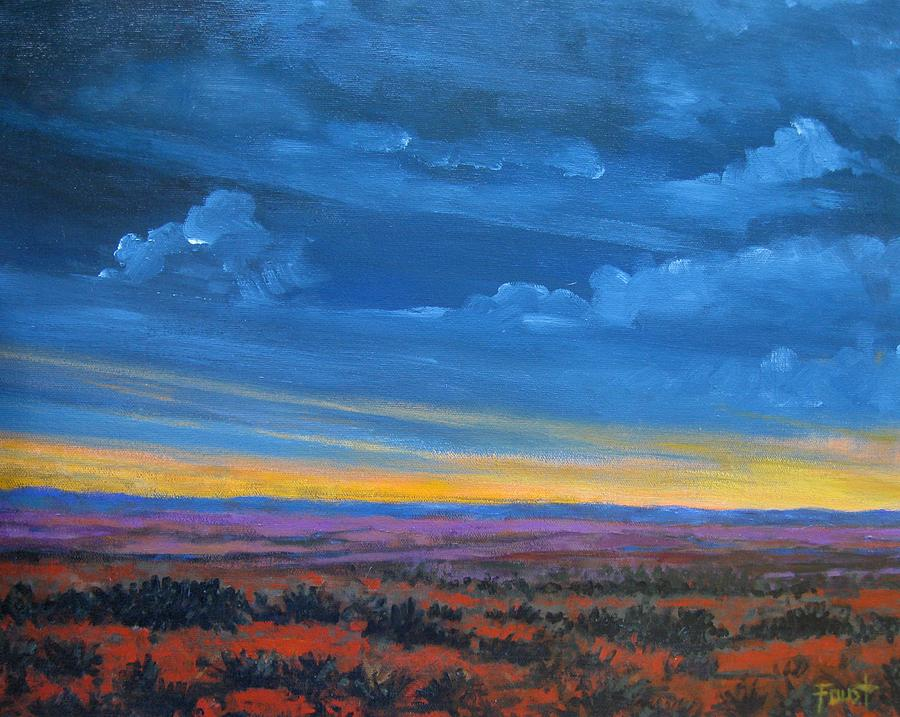 Sunset Painting - Southwestern Sunset by Gene Foust
