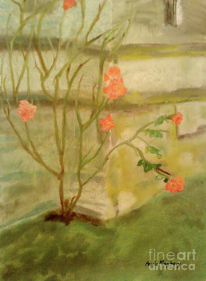 Garden Painting - Southwick Hall Rose by Paula Maybery