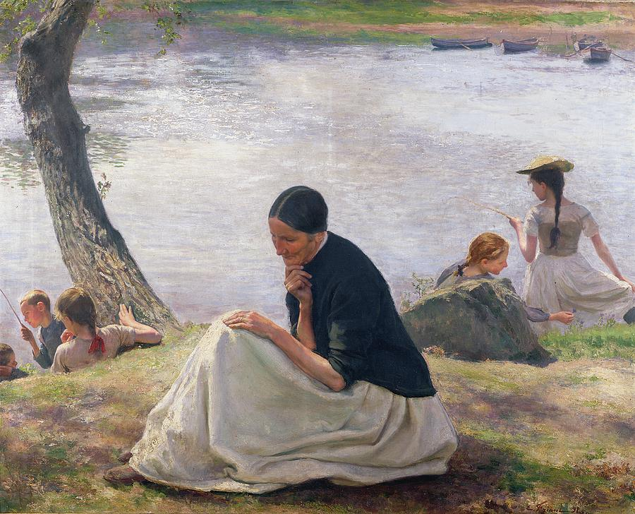 Souvenir Painting - Souvenir by Emile Friant