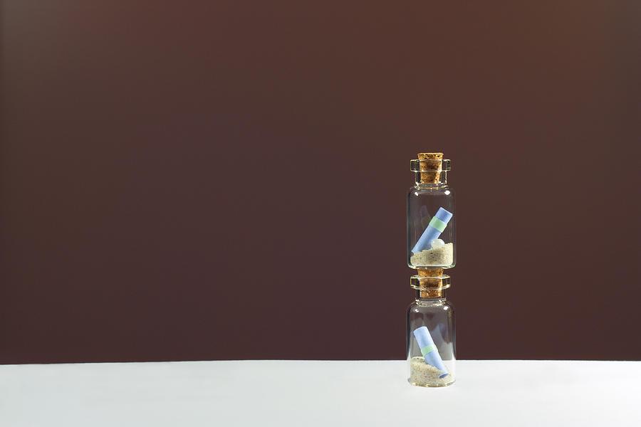 Background Photograph - Souvenir Glass Bottles by Boyan Dimitrov