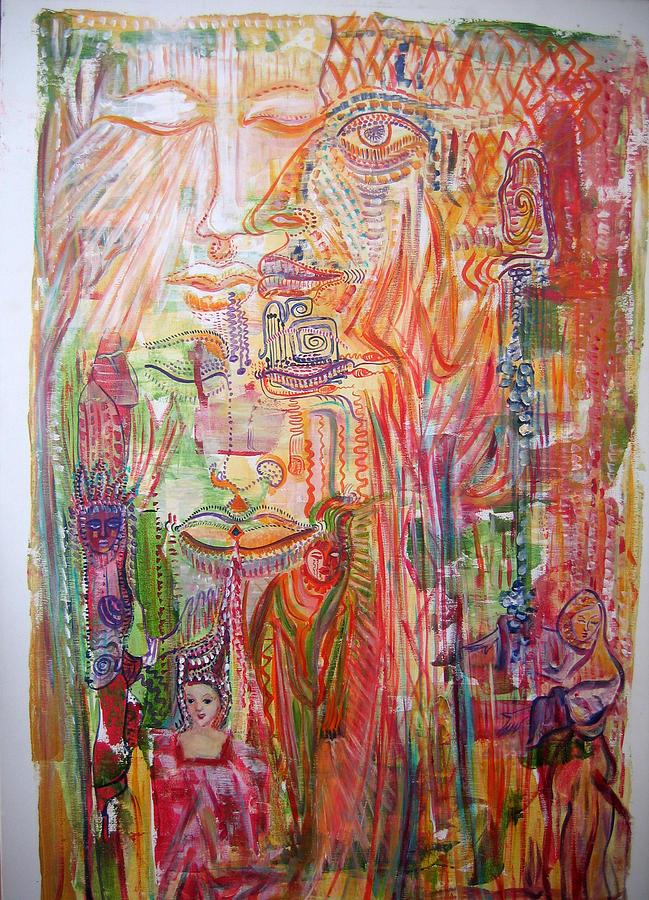 Past Life Painting - Souvenirs by Helene  Champaloux-Saraswati
