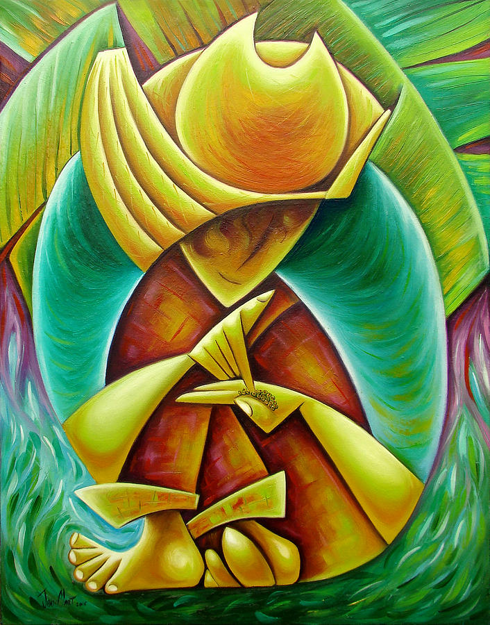 Sower Painting by Javier Martinez