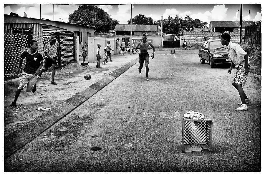 Phil dawson photograph soweto street football 1 by phil dawson