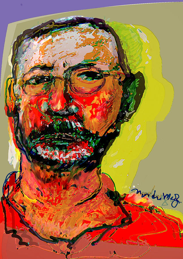 Self Portraits Painting - Sp3808 by Noredin Morgan