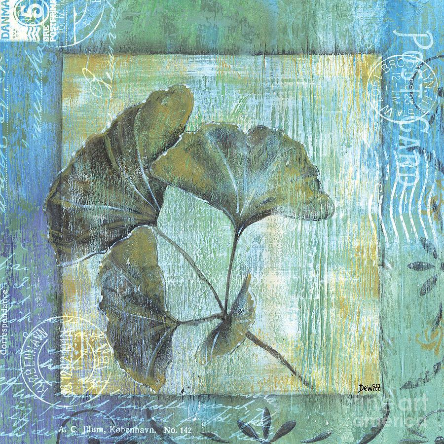 Gingko Painting - Spa Gingko Postcard 1 by Debbie DeWitt