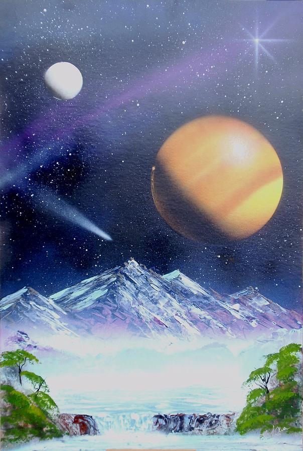 Spray Paint Mixed Media - Space Art 2 by Lane Owen