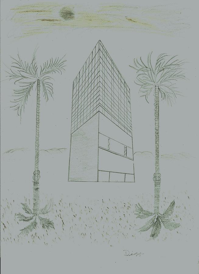 Architecture Drawing - Space by D