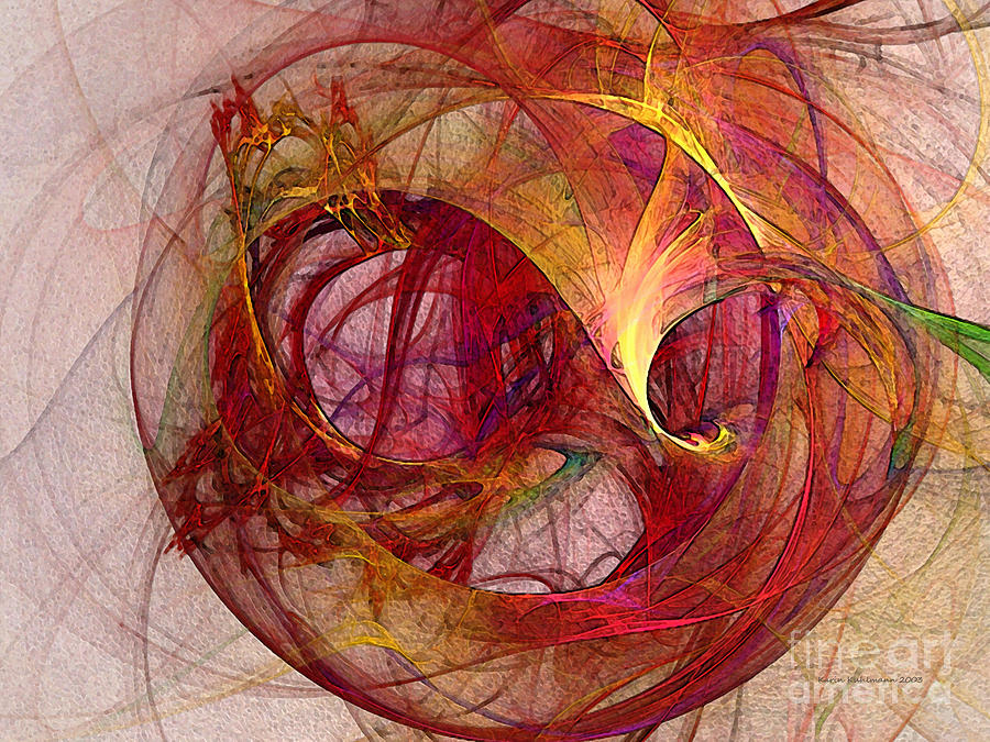 Abstract Digital Art - Space Demand Abstract Art by Karin Kuhlmann