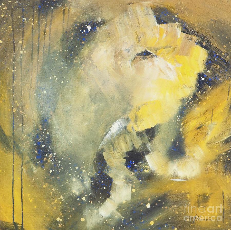 Elephant Painting - Space Elephant by Kate Maconachie