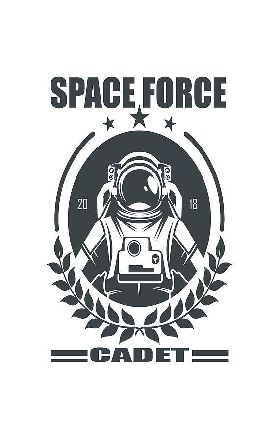 Space Force Cadet Digital Art by SpaceForceHQ