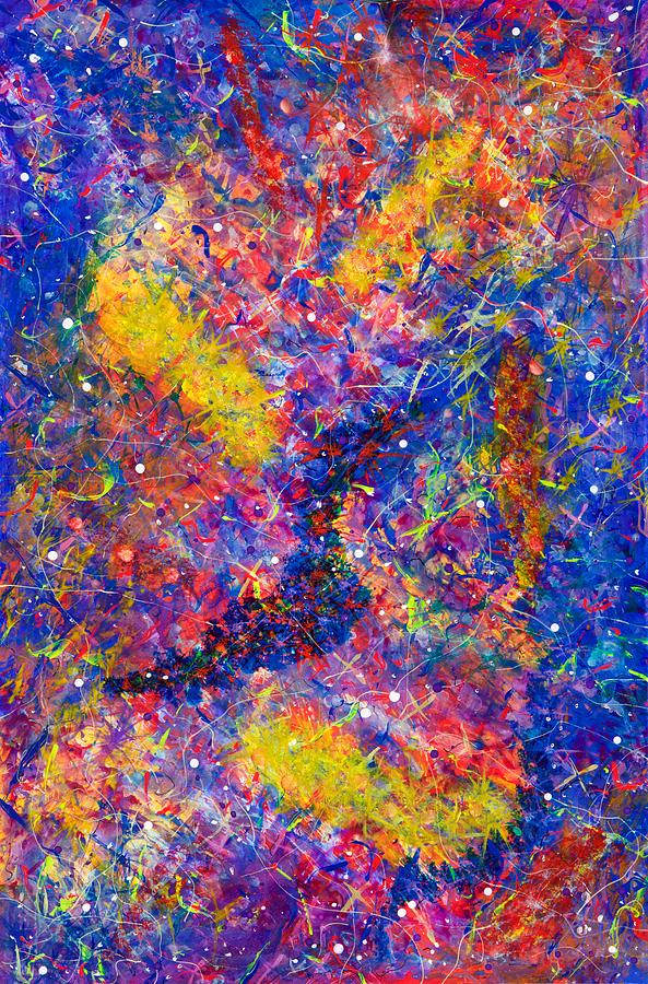 Acrylic Painting - Space Glitter 15-14 by Patrick OLeary