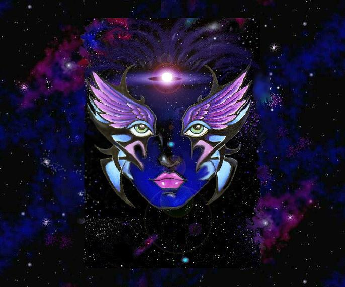 Space Goddess Digital Art - Space Goddess  by Carmen Daspit