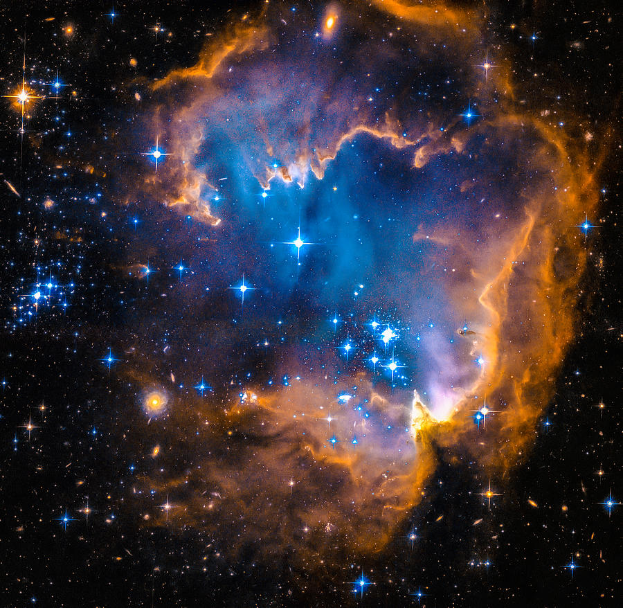 Space Image New Stars And Nebula Photograph By Matthias