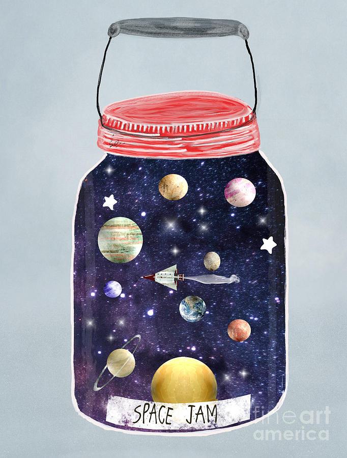 Space Painting - Space Jam by Bri Buckley