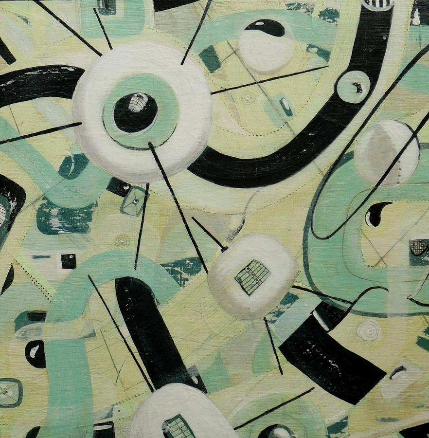 50's Mixed Media - Space Junk by Nancy Gunther