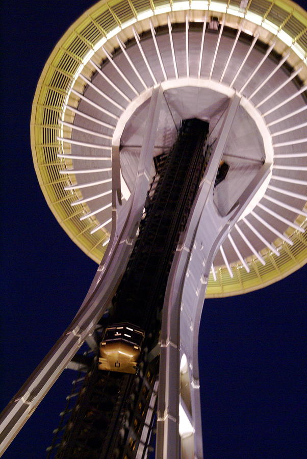 Architecture Photograph - Space Needle Close-up by Sonja Anderson