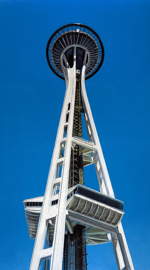 Space Needle Painting - Space Needle by Jason Girard