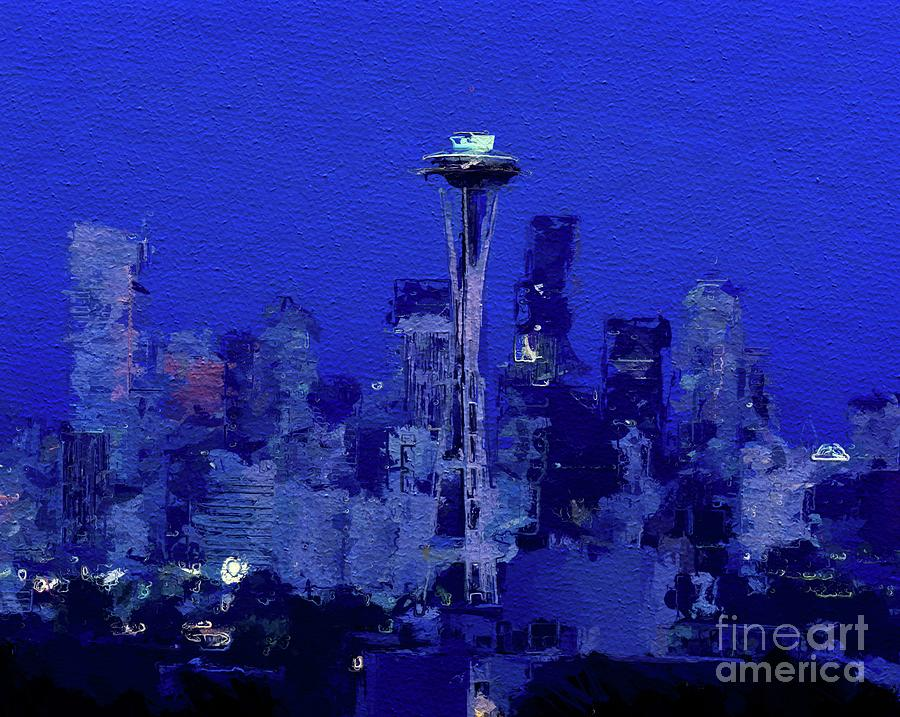Space Needle, Seattle Painting
