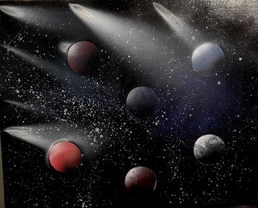 Planets Painting - Space Odyssey by Michael Garcia