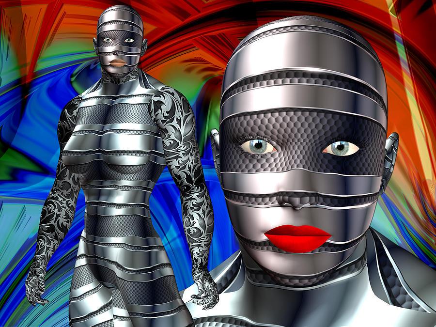 Robotic Digital Art - Studio Woman Render 14 by Carlos Diaz