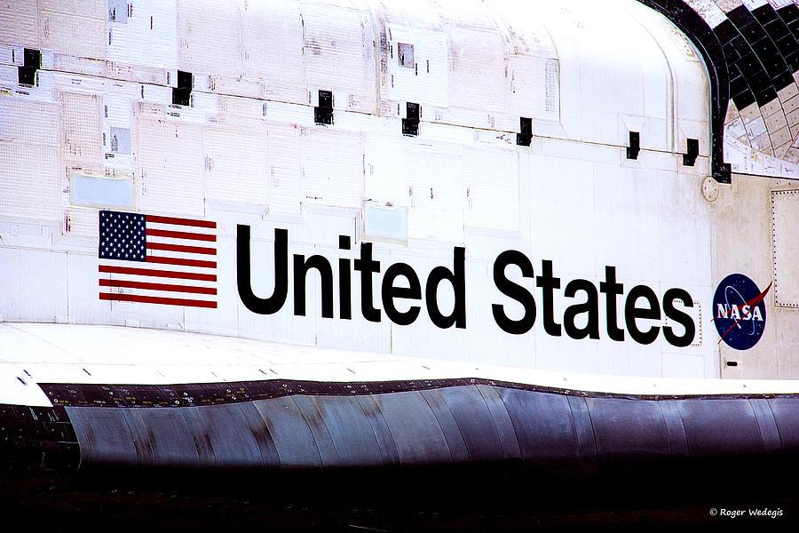 Shuttle Photograph - Space Shuttle Atlantis by Roger Wedegis