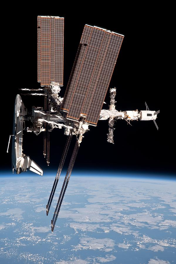 History Photograph - Space Shuttle Endeavor Docked by Everett